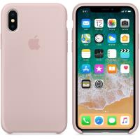 Apple Silicone Case - Silikonowe etui iPhone X (piaskowy róż)