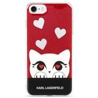 Karl Lagerfeld Choupette Valentine - Etui iPhone 8 / 7 (Red)