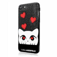 Karl Lagerfeld Choupette Valentine - Etui iPhone 8 / 7 (Black)