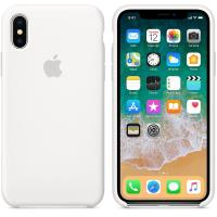 Apple Silicone Case - Silikonowe etui iPhone X (biały)