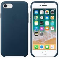 Apple Leather Case - Skórzane etui iPhone 8 / 7 (galaktyczny błękit)