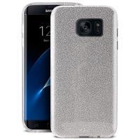 PURO Glitter Shine Cover - Etui Samsung Galaxy S7 edge (Silver)