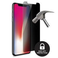 PURO Privacy Tempered Glass - Szkło ochronne na ekran iPhone X z filtrem prywatyzującym, 9H (czarna ramka)