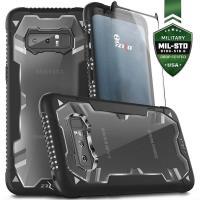 Zizo Proton Case - Pancerne etui Samsung Galaxy Note 8 (2017) ze szkłem 9H na ekran (czarny/przezroczysty)
