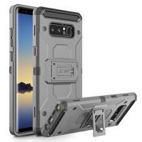 Zizo Armor Cover - Pancerne etui Samsung Galaxy Note 8 (2017) z podstawką i uchwytem do paska (Gray/Black)