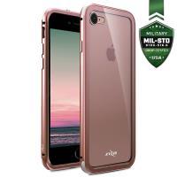Zizo Atom Case - Etui aluminiowe iPhone 8 / 7 ze szkłem ochronnym na ekran (Rose Gold)