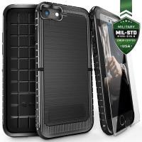 Zizo Dynite Cover - Etui iPhone 8 / 7 ze szkłem 9H na ekran (Black)