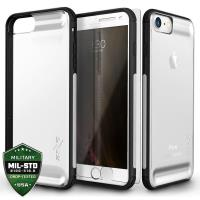 Zizo Flux Case - Etui iPhone 8 / 7 / 6s / 6 ze szkłem 9H na ekran (Black/Gray)