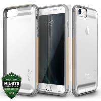 Zizo Flux Case - Etui iPhone 8 / 7 / 6s / 6 ze szkłem 9H na ekran (Gray/Beige)