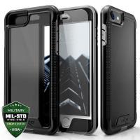 Zizo ION Cover - Pancerne etui iPhone 8 / 7 ze szkłem 9H na ekran (Black/Smoke)
