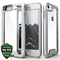Zizo ION Cover - Pancerne etui iPhone 6s / 6 ze szkłem 9H na ekran (Silver/Clear)