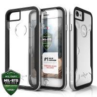 Zizo Shock Case - Etui iPhone 8 / 7 / 6s / 6 z hartowanym szkłem ochronnym na ekran (Silver)