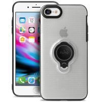 PURO Magnet Ring Cover - Etui iPhone 8 / 7 z magnetycznym uchwytem na palec (przezroczysty)