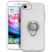 PURO Magnet Ring Cover - Etui iPhone 8 / 7 z magnetycznym uchwytem na palec (biały)