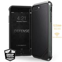 X-Doria Defense Lux - Etui aluminiowe iPhone 8 Plus / 7 Plus (Black leather)