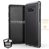 X-Doria Defense Lux - Etui aluminiowe Samsung Galaxy Note 8 (2017) (Black Leather)