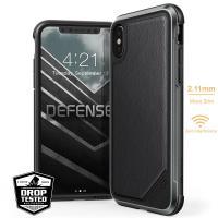 X-Doria Defense Lux - Etui iPhone X (Black Leather)
