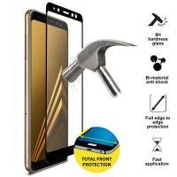 PURO Frame Tempered Glass - Szkło ochronne hartowane na ekran Samsung Galaxy A8 (2018) (czarna ramka)