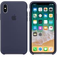 Apple Silicone Case - Silikonowe etui iPhone X (nocny błękit)