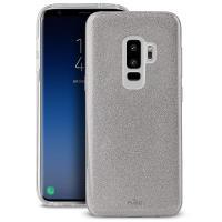 PURO Glitter Shine Cover - Etui Samsung Galaxy S9+ (Silver)