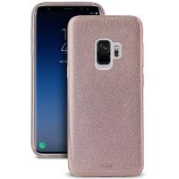 PURO Glitter Shine Cover - Etui Samsung Galaxy S9 (Rose Gold)