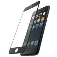 X-Doria Revel Clear - Hartowane szkło ochronne 9H na cały ekran iPhone 8 / 7 (czarna ramka)