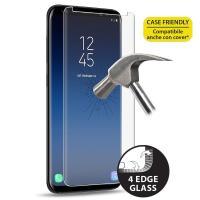 PURO Premium Full Edge Tempered Glass Case Friendly - Szkło ochronne hartowane na ekran Samsung Galaxy S9+