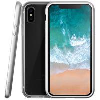 Laut EXOFRAME - Etui iPhone X z aluminiową ramką z 2 foliami na ekran w zestawie (Silver)