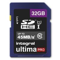 Integral UltimaPro - Karta pamięci 32GB SDHC/XC 45MB/s Class 10 UHS-I U1