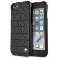BMW Hexagon Case - Etui skórzane iPhone 8 / 7  (czarny)