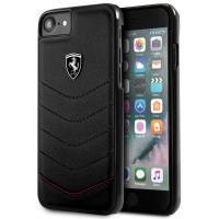Ferrari Heritage Hardcase - Skórzane etui iPhone 8 / 7 (czarny)