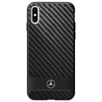 Mercedes Dynamic Line Carbon & Aluminium - Etui iPhone X (czarny)