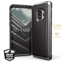 X-Doria Defense Lux - Etui aluminiowe Samsung Galaxy S9+ (Black Leather)