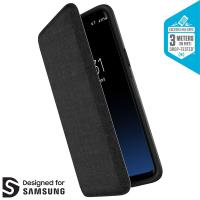 Speck Presidio Folio - Etui Samsung Galaxy S9+ z kieszenią na karty + stand up (Heathered Black/Black/Slate Grey)
