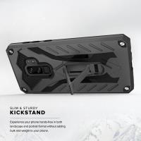 Zizo Static Cover - Pancerne etui Samsung Galaxy S9+ z podstawką (Black/Black)
