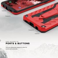 Zizo Static Cover - Pancerne etui Samsung Galaxy S9+ z podstawką (Red/Black)