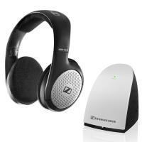 Sennheiser RS 110 II - Bezprzewodowe otwarte dynamiczne słuchawki stereofoniczne z nadajnikiem (czarny/srebrny)
