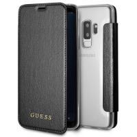 Guess Iridescent Book - Etui Samsung Galaxy S9+ z kieszeniami na karty (czarny)
