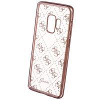 Guess 4G Transparent - Etui Samsung Galaxy S9+ (różowe złoto)