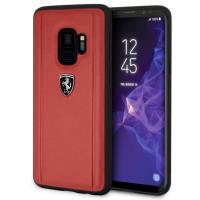 Ferrari Heritage Portofino Case - Skórzane etui Samsung Galaxy S9 (czerwony)