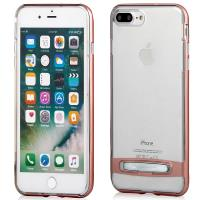 Mercury Dream Bumper - Etui iPhone 8 Plus / 7 Plus z metalową podstawką (różowe złoto)