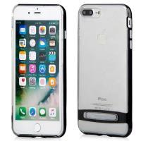 Mercury Dream Bumper - Etui iPhone 8 Plus / 7 Plus z metalową podstawką (czarny)