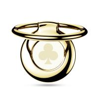 PURO Magnetic Ring - Magnetyczny uchwyt na palec do telefonu z funkcją standu (złoty trefl)