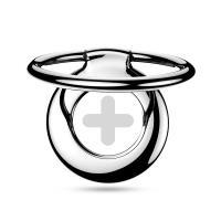 PURO Magnetic Ring - Magnetyczny uchwyt na palec do telefonu z funkcją standu (srebrny plus)