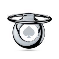 PURO Magnetic Ring - Magnetyczny uchwyt na palec do telefonu z funkcją standu (szary pik)