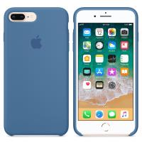 Apple Silicone Case - Silikonowe etui iPhone 8 Plus / 7 Plus (niebieski dżins)