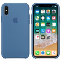 Apple Silicone Case - Silikonowe etui iPhone X (niebieski dżins)