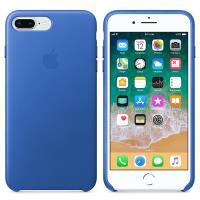 Apple Leather Case - Skórzane etui iPhone 8 Plus / 7 Plus (ostry błękit)