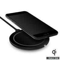 PURO Wireless Charging Station Qi - Uniwersalna stacja bezprzewodowa USB-C z ładowaniem indukcyjnym Qi, 5 V / 1 A - 5 W (czarny)
