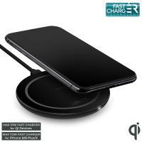 PURO Ultra Compact Wireless Charging Station QI - Uniwersalna stacja bezprzewodowa USB-C z ładowaniem indukcyjnym Qi, 9 V / 1.2 A - 10 W (czarny)